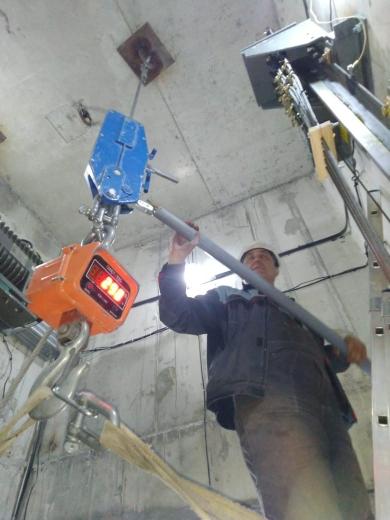 Испытание лифтовых крюков и балок