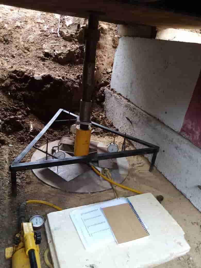 Испытание грунтов статическим штампом по ГОСТ 20276-2012