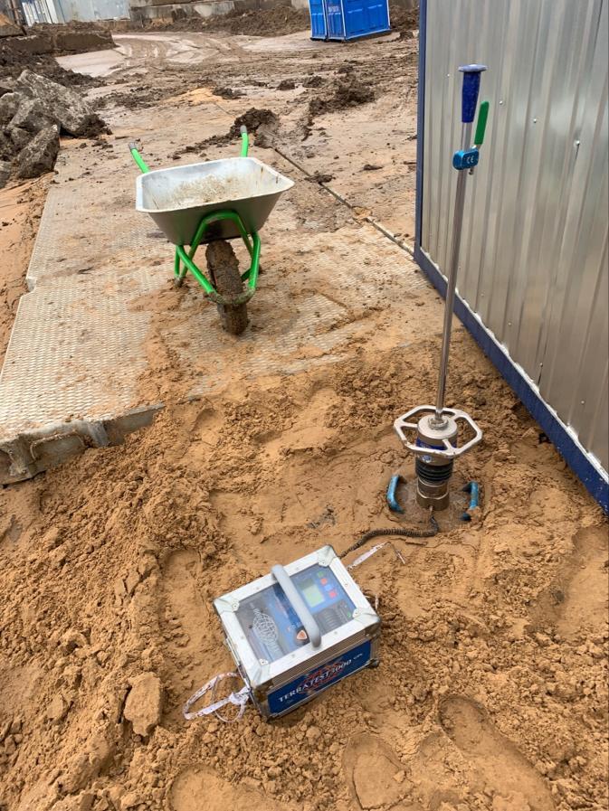 Определение коэффициента уплотнения песчаной засыпки